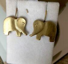 Boucle D Oreille Vintage bijou ancien  Dormeuse Éléphant Fait Main Créatrice