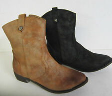No Pattern Block Cowboy, Western Casual Boots for Women