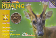 The Endangered Species - Barking Deer Education Coin Card.- 2003