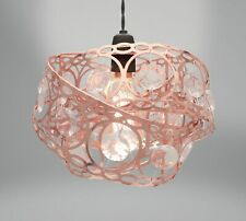 Lampshade - Rose Gold Copper Metal - Gem Wrap Ceiling NEW