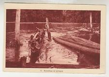 Ivory Coast ?., Pirogue in River, c1930 ppc.