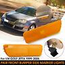 Front Bumper Side Marker Amber Lights Indicators For VW GOLF JETTA MK4 99-05 !