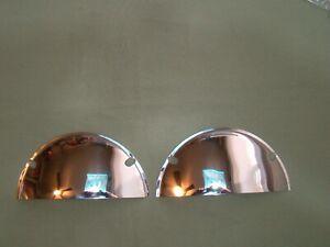 """7 inch head light visors half moon visors 7 inch visors 7""""  1/2 moon visors"""