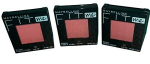 LOT Of 3 Maybelline New York FIT Me Blush 30 Rose New Sealed