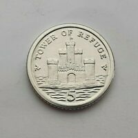 2016 Isle of Man Tower of Refuge 5p coin AC - Uncirculated
