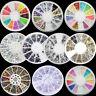 WO_ LC_ 3D Crystal Gem Glitter Rhinestones DIY Nail Art Tip Decor Manicure Wheel