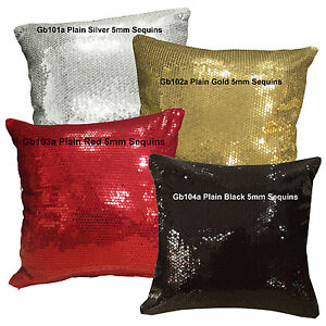 Gb 5mm Sequins (Pick 1 of 4 Colors) Velvet Cushion Cover/Pillow Case*Custom Size