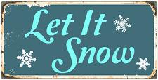 "946HS Let It Snow 5""x10"" Aluminum Hanging Novelty Sign"