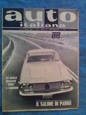 AUTO ITALIANA ottobre 1961 / MASERATI 5000 / SALONE DI PARIGI