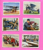1937 W.A.& A.C. CHURCHMAN CIGARETTES THE R.A.F. AT WORK 6 CARD LOT