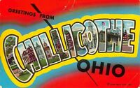 Greetings from Chillicothe Ohio Vintage Postcard A01