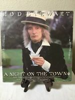 Rod Stewart A NIGHT ON THE TOWN Vinyl LP  Record VG 1976 Warner Bros Cover Liner