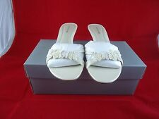 Ann taylor Cassia Cremora Leather,Low Heel Shoes Size 8m