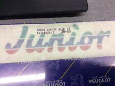 PEUGEOT 205 JUNIOR TRANSFER KIT 8659CV car badge decal motive BLUE GREEN RED