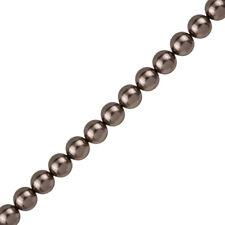 8mm Swarovski Round Crystal Pearl Beads 5810 Brown Pack of 25 (J59/3)