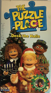The Puzzle Place-Deck The Halls(VHS 1994)TESTED-RARE VINTAGE COLLECTIBLE-SHIP24H