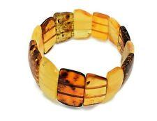 Bracelet Baltic Genuine Multi-Color Large Amber Men Women Bangle Christmas Gift