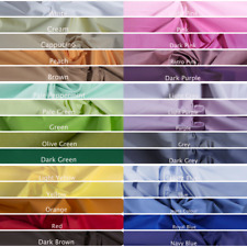 """100% Cotton Fabric 64""""wide By Metre Craft Quilting Colours Plain Sheeting"""