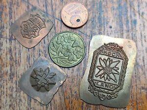 Traditionsbzeichen Emblems Copper & Brass Edelweiss Highland Aavs Bergwacht