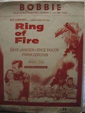 Bobbie de la película Anillo de Fuego-David Janssen - 1961 nos Partituras
