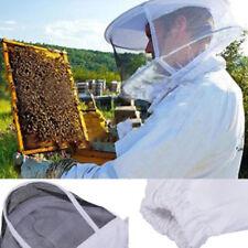 New Professional Cotton Full Body Beekeeping Bee Keeping Suit w/ Veil Hood XXL