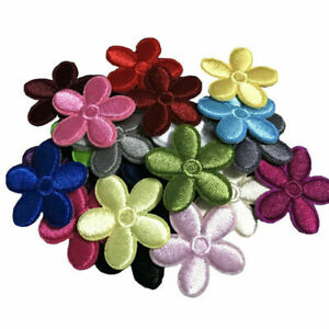 Colorful Small Daisy Flower Embroidery Patches Applique DIY Craft Bag Decoration