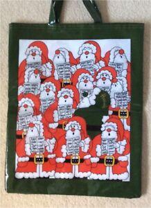 HARRODS LARGE TOTE BAG CHRISTMAS THEME: New from London HARRODS store. Santa 🎅