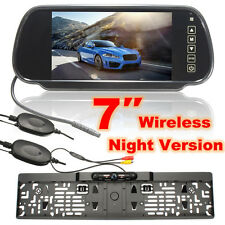 "Wireless 4 LED Parking Reverse Camera + 7"" LCD Mirror Monitor Car Rear View Kit"