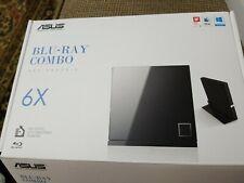 ASUS BLU-RAY COMBO SBC-06D2X-U 6X USB  Slim External Drive w/ Stand. NEW
