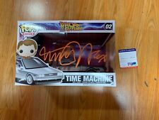 """Funko Pop Signed Michael J Fox """"Marty Time Machine"""" Back To The Future PSA-IP"""