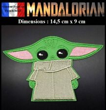 Écusson Brodé Thermocollant NEUF Patch Star wars Mandalorian Bébé Yoda Child (A)