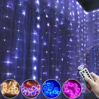 3M LED Fairy Curtain String Lights Backdrop Wedding Party Xmas Room Decor US