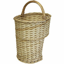 HARTLEYS OVAL WICKER STAIR STORAGE BASKET WITH CARRY HANDLE STEP TIDY/ORGANISER