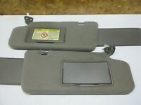 03-07 NISSAN MURANO SUN VISOR SHADE SUNVISOR SET PAIR LH RH Left Right Dark GREY