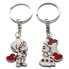 Key Ring for Lover N3 Loving Heart Keychain, Fashion Metal Couples