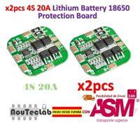 2pcs 4S 14.8V / 16.8V 20A Peak Li-ion BMS PCM Battery Protection Board