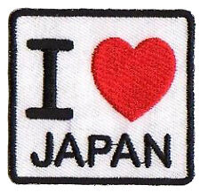 Patche transfert écusson hotfix patche I love Japan Japon souvenir patch