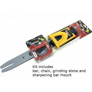 """POWERSHARP 16"""" GUIDE BAR & CHAIN sharpens on saw 542314 PS56E combination NEW"""