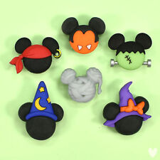 Disney Mickey & Minnie Halloween Hats 7924 Dress It Up Buttons Witches Ghosts