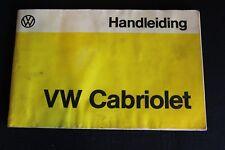 Handleiding VW Cabriolet 1978 (Dutch) (NA)