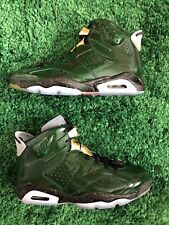 Nike Air Jordan Retro 6 Champagne Championship Pure Green Gold Red 384664-350 11