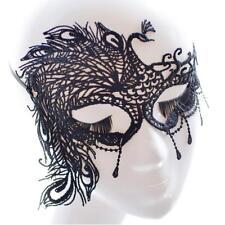 Venezianische Augenmaske Stoff Ballmaske Maske Karneval Maskerade Spitzen Pfau