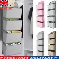 4-Pockets Wall Hanging Closet Organizer Door Storage For Toys Storage Bag