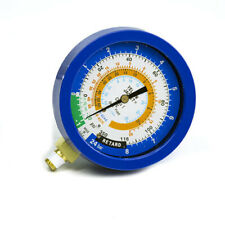 Red//Blue Gauges Yellow Jacket 49935 Titan 4-Valve Test and Charging Manifold degrees F psi Scale R-134A//404A//407C Refrigerant