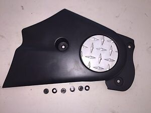 02-09 Buell Blast 500 Used OEM Front Sprocket/Belt Cover With Mounting Screws