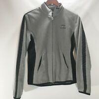 Tommy HIlfiger Jacket Fleece Full Zip Gray Black Pockets Size L Large Lightweigh