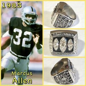 Los Angeles Raiders Marcus Allen 1983 Championship Ring Size 11
