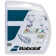 3 Packages of Babolat M7 16 Gauge Natural Tennis String