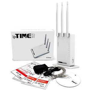 ipTIME N704BCM Router Wifi Antenna Modem 300Mbps 802.11n 4 Port LAN VPN WDS WPS