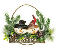 Christmas Decoration Jolly Snowman Hanger Plaque Welcome 202031